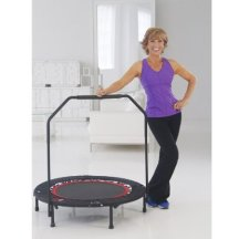 Osteoporosis Exercises small indoor trampoline helps build strong bones, stability and stamina.